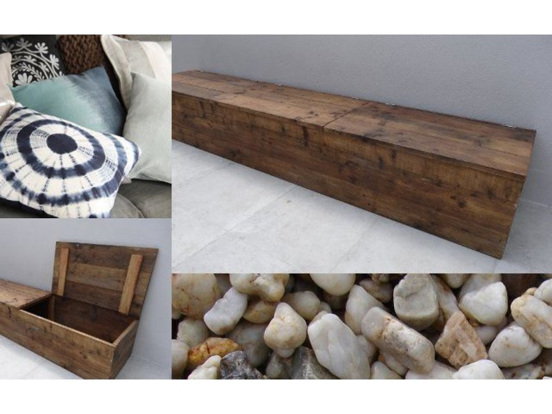 banc de stockage du bois d 39 chafaudage pure wood design. Black Bedroom Furniture Sets. Home Design Ideas