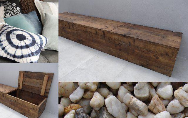 banc de stockage du bois dechafaudage pure wood design. Black Bedroom Furniture Sets. Home Design Ideas