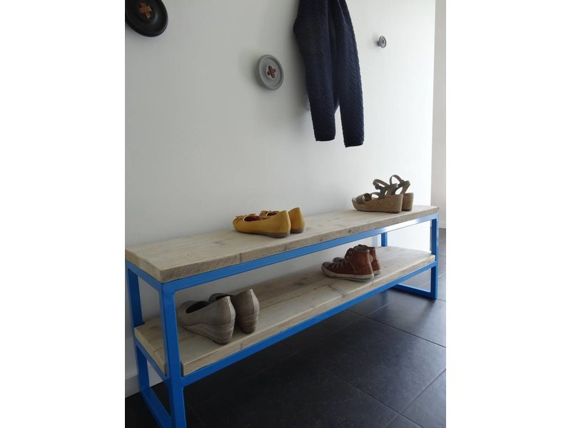 PURE wood design 'Netland' Halbankje steigerhout/staal