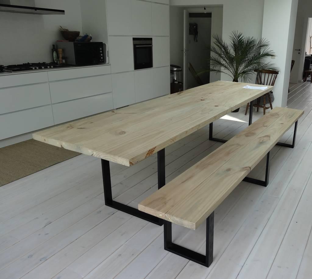Keukentafel staal ontwerp - Ijzer keuken tafel smederij ...