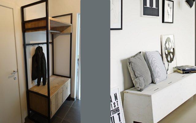 Kast Hout Staal : Tv kast hout staal tv meubel hout staal stalenpoten laag