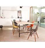 'Tonsberg' industriele tafel steigerhout/ronde poot staal