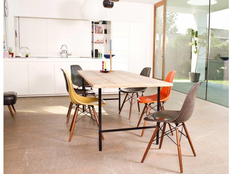 Table bois d'échafaudage/jambes de la table ronde en acier