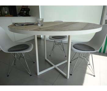 "PURE wood design ""Ringsted"" Table ronde en pin recyclé"