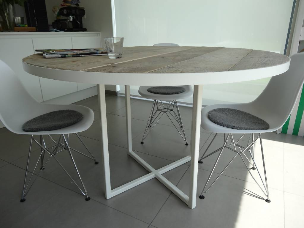 Table bois industriel for Table design industriel
