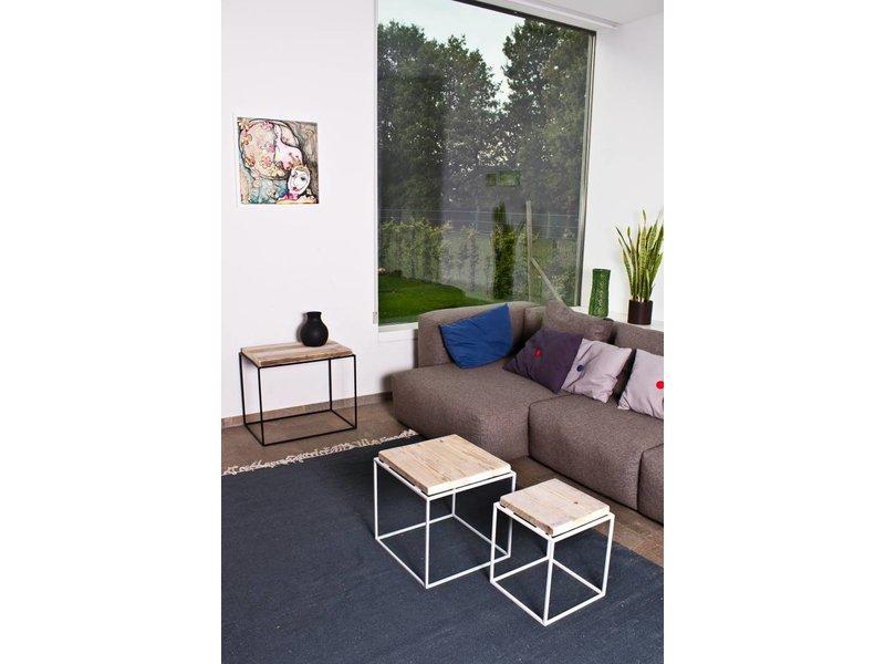 'Kastrup' salontafel steigerhout/fijn staal