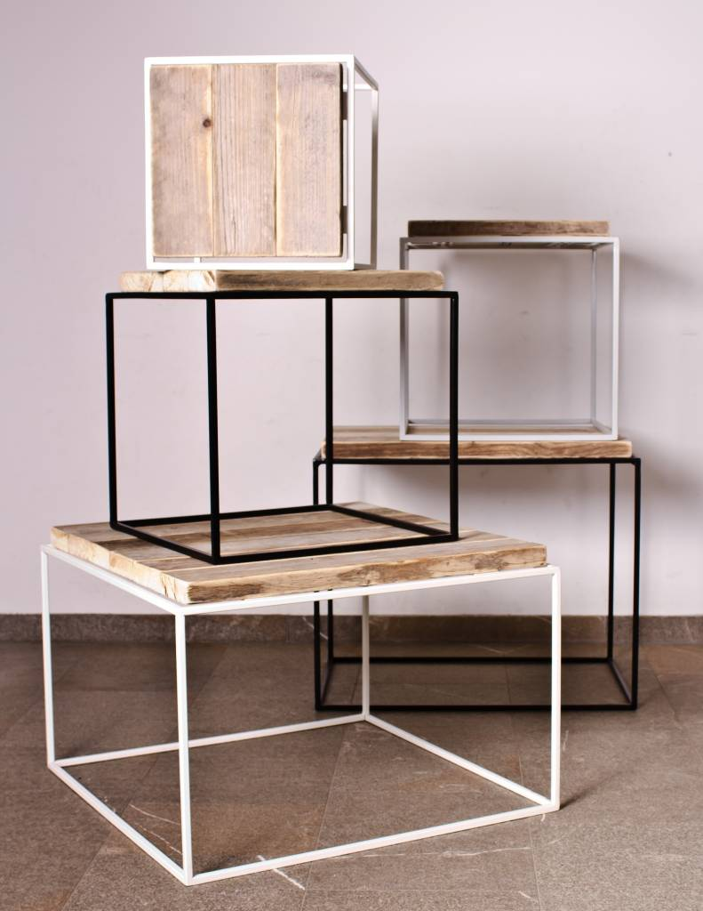 salontafel fijn staal pure wood design. Black Bedroom Furniture Sets. Home Design Ideas