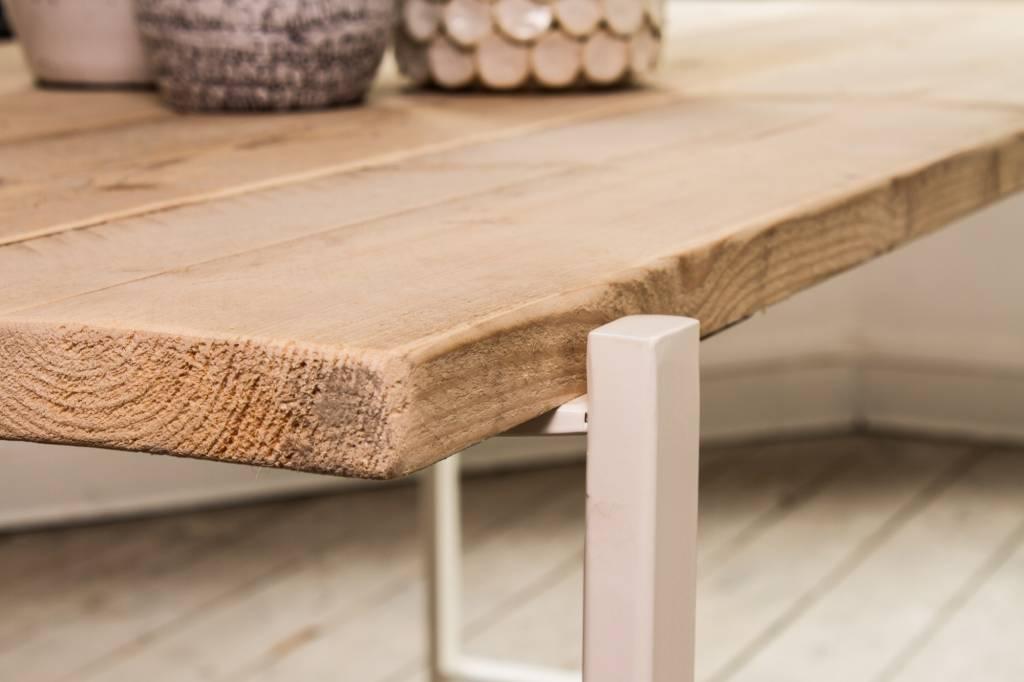 pure wood design industri le tafel steigerhout zwevend blad stalen frame pure wood design. Black Bedroom Furniture Sets. Home Design Ideas