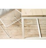 PURE wood design Banque Table de gardin en bois avec armature en acier