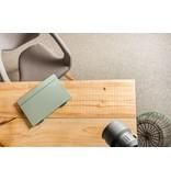 PURE wood design Bureautafel expédition de bois avec structure en acier diagonale