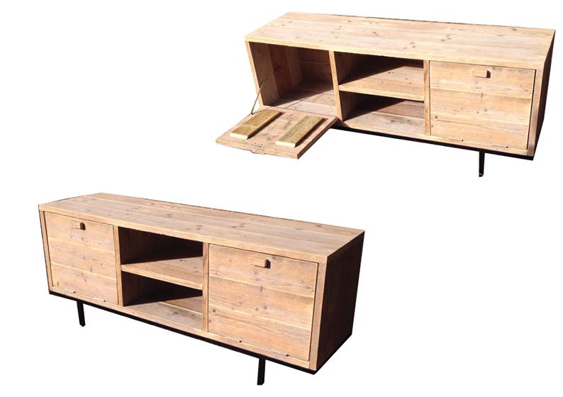 Sloophouten en steigerhouten meubelen op maat gemaakt pure wood design