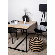 '' Eiken tafel / stalen frame