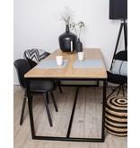 'Alesund' eiken tafel met stalen frame