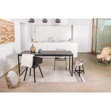 'Nordland' industriele tafel chipwood/stalen frame recht
