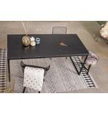 'Nordland' tafel met chipwood en recht stalen frame