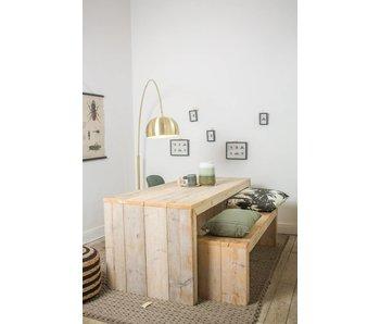 'Lund' tafel steigerhout dichte zijkanten