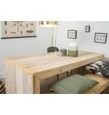 'Lund' steigerhouten tafel dichte zijkanten