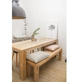 table à manger bois d'échafaudage/bloc jambes