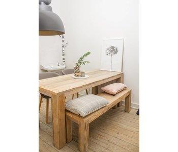 PURE wood design 'Hamar' eettafel van steigerhout met blokpoten