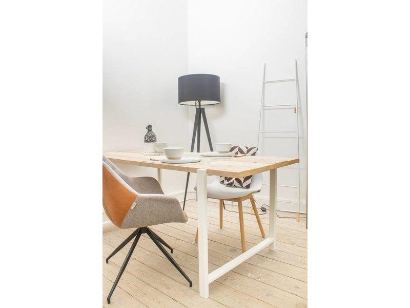 "PURE wood design ""Nordby"" Table en pin recyclé au style industriel"