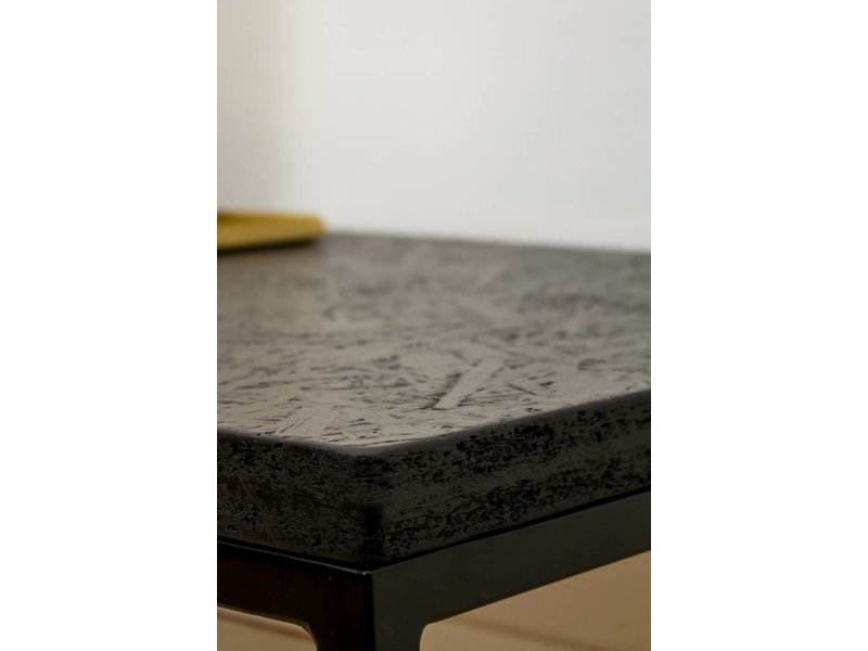 PURE wood design 'Lunstad' industriële salontafel chipwood/stalen frame