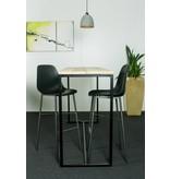 PURE wood design 'Stromberg' bartafel steigerhout/stalen frame