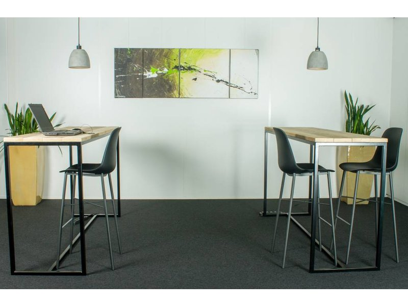 """Stromberg"" Table de bar en pin recyclé au style industriel"