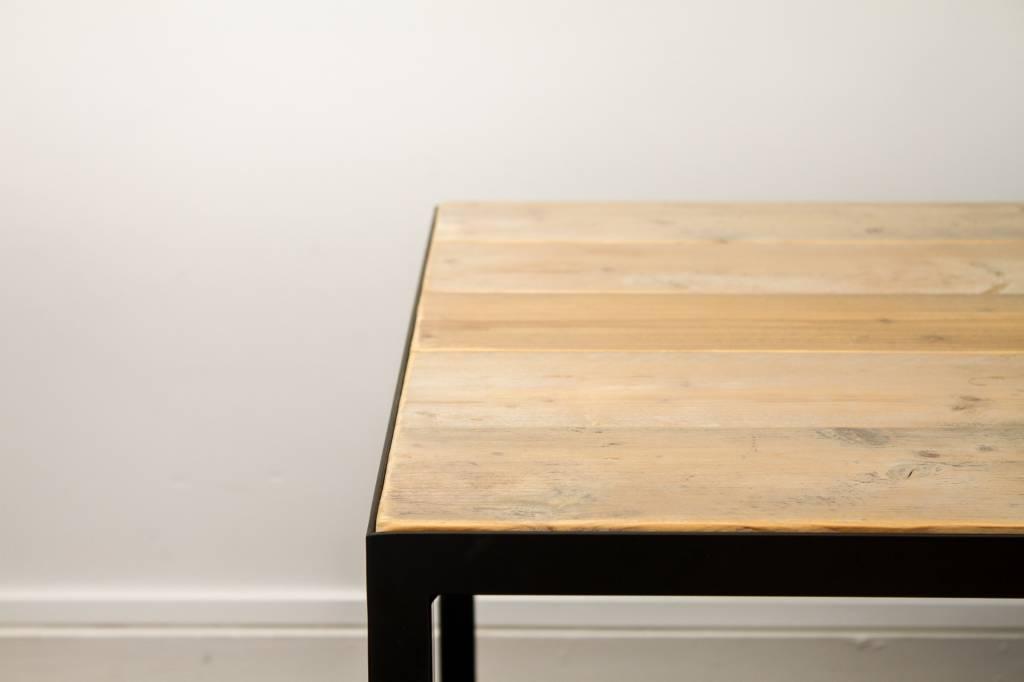 Pure wood design industriele tafel steigerhout met for Stijgerhout tafel