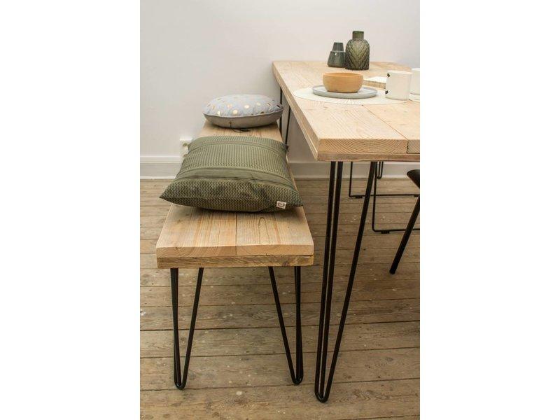 """PURE wood design """"Har"""" Table en pin recyclé au style industriel"""
