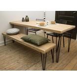PURE wood design 'Har' industriele tafel steigerhout/hairpin poot
