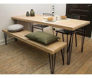 Table industrielle avec jambes inclinées - Copy