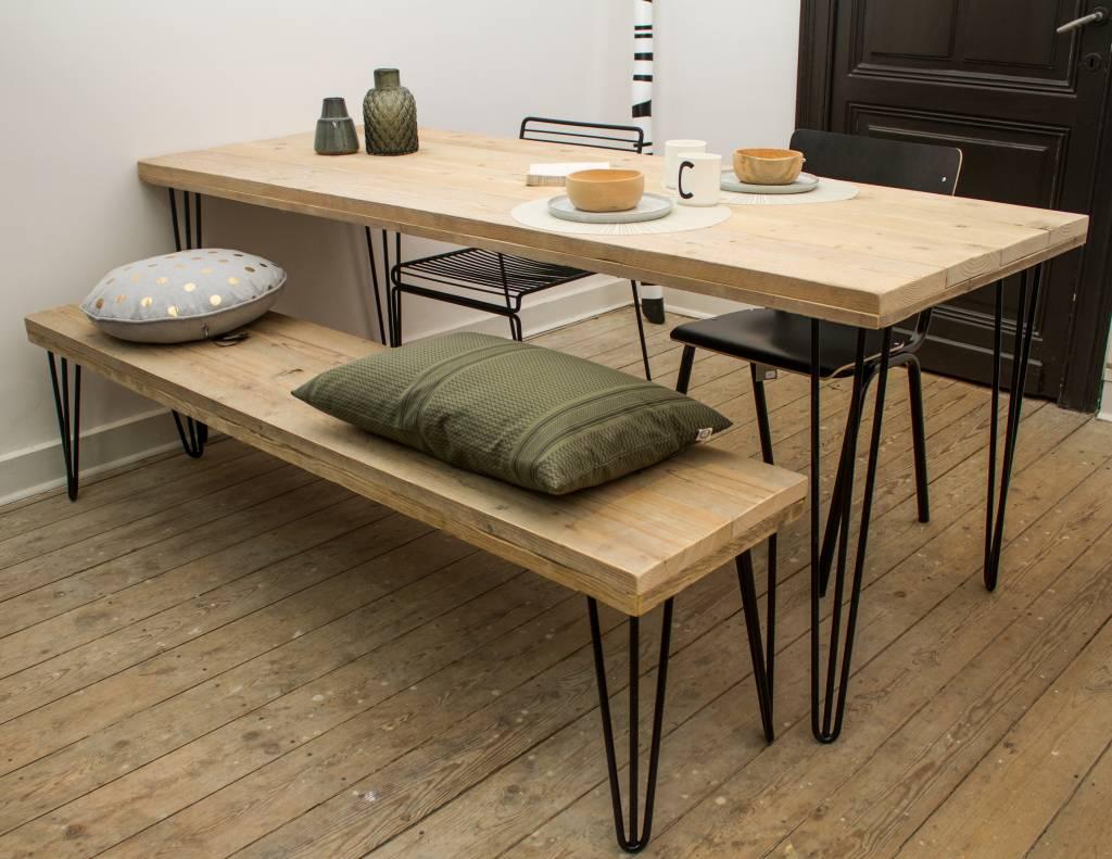 Steigerhout tafels en industriele tafels   pure wood design