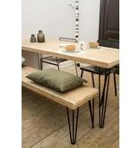 'Har' industriele tafel steigerhout/hairpin poot