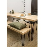"""Har"" Table en pin recyclé au style industriel"