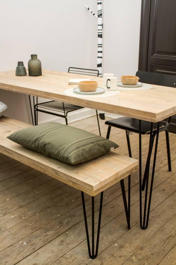 har table en pin recycl au style industriel pure wood design. Black Bedroom Furniture Sets. Home Design Ideas