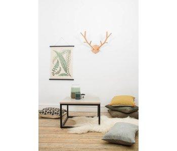 "PURE wood design ""Varborg"" Table basse en chêne et métal"