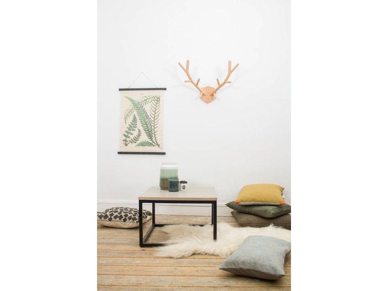 'Vanborg' salontafel eikenhout met stalen frame