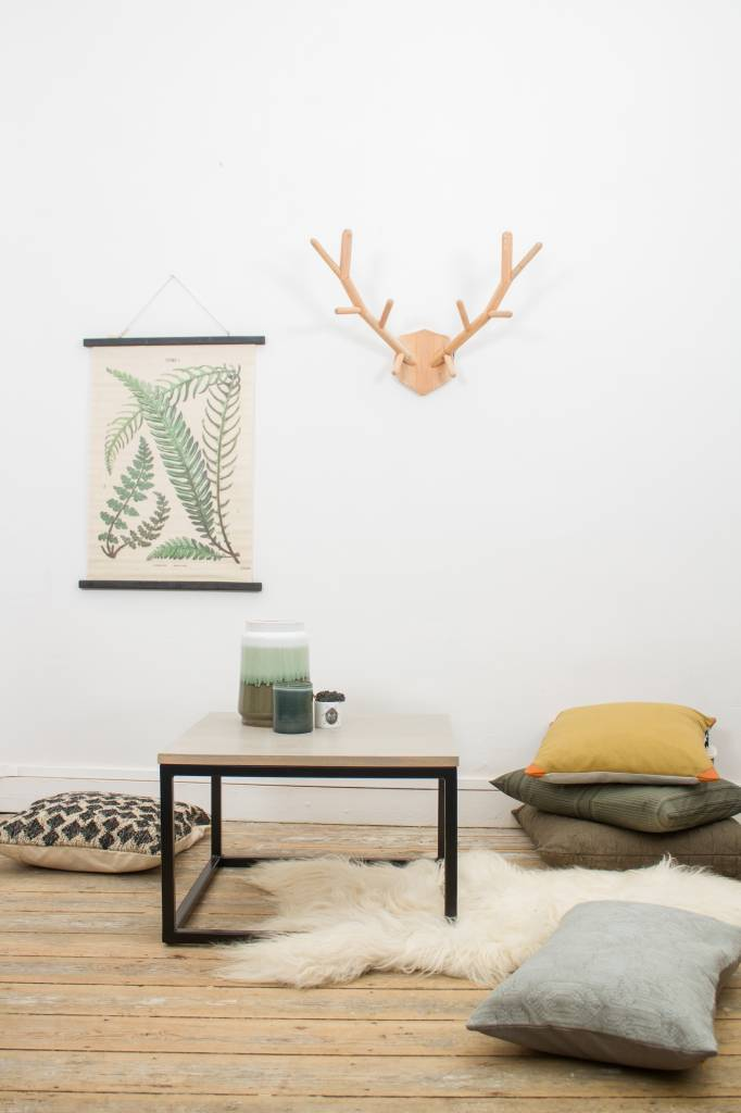 u0026#39;Vanborg u0026#39; salontafel eikenhout met stalen frame   PURE Wood Design