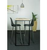 Table industrielle en bois d'échafaudage avec armature en acier - Copy