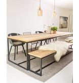 'Brandal' industriele tafel steigerhout stalen frame