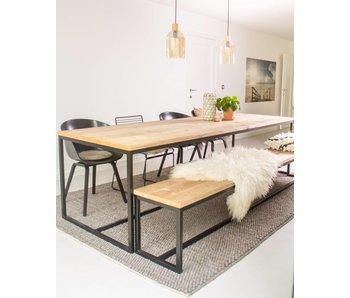 'Brandal' industriele tafel steigerhout/stalen frame