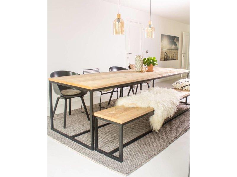 """PURE wood design """"Brandal"""" Table en pin recyclé au style industriel"""