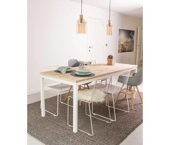 Flora Outdoor industriele tafel steigerhout rechte poten staal