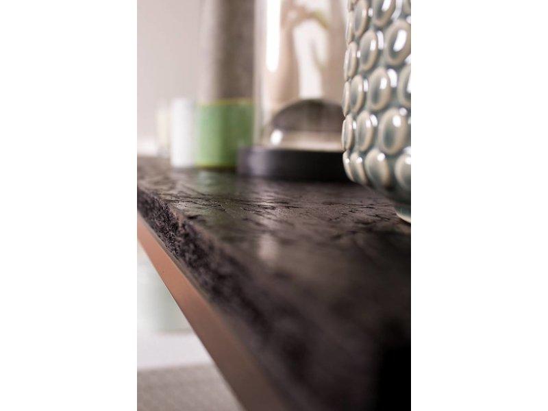 PURE wood design 'Romsdal' Industriele kast zwart chipwood