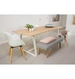 'Soborg' table en chêne / châssis incliné