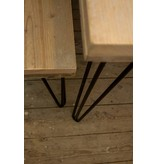 PURE wood design 'Har' industriele bank steigerhout/hairpin poot