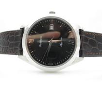 Parnis 39mm Classic zwart met zilveren elementen