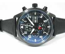 Parnis 42mm Top Gun PVD zwart - wit