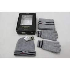 Eiger gift set grey gloves, scarf and cap size S-M