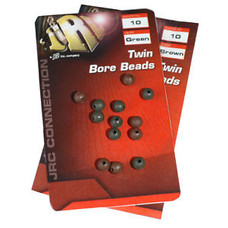 JRC twin bore beads green | 10 st